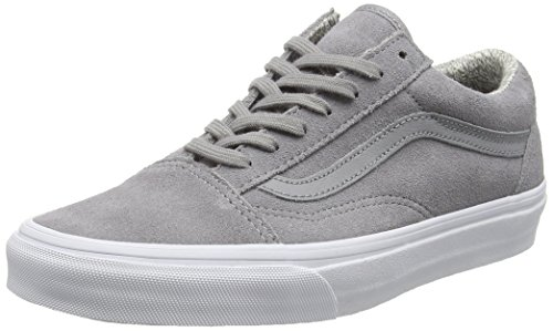 Vans U Old Skool, Baskets Basses Mixte Adulte Gris (Suede/Woven gray/True White)