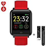 Tagobee TB08 IP67 Waterproof Smartwatch Fitness Uhr für iPhone und Android(rot)