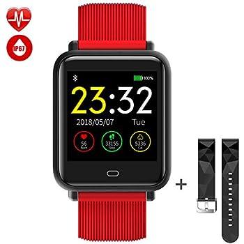 TagoBee TB08 IP67 Reloj Smartwatch Desbloqueado Fitness Tracker Monitorización de la presión Arterial Notificaciones de Recordar Compatible con iPhone y ...