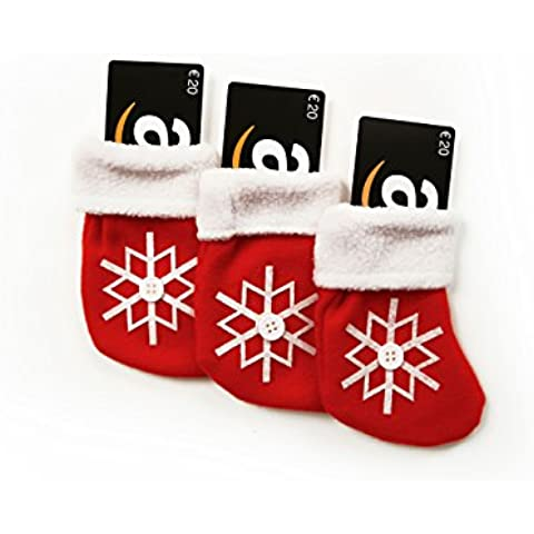 Lote de 3 Tarjetas Regalo con Medias de Navidad - Envío 1 día gratis