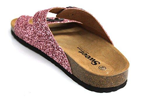 Sweet Femme Boucle Sangle Semelle Summer Beach Sandales Taille 3–8 Fuchsia