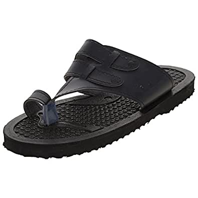 Lakhani Men's Black Synthetic Leather Athletic & Outdoor Sandals (10 Uk)
