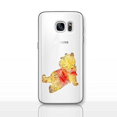 Fan Art Étui/Coque de Téléphone pour Samsung Galaxy S7 Edge (G935) avec Protecteur D'écran / Silicone Doux Gel/TPU / iCHOOSE / Winnie L'ourson