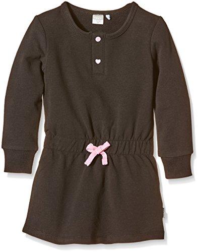 NAME IT Mädchen Kleid nitDAVINA M LS SWEAT DRESS 116, Einfarbig, Gr. 98, Schwarz