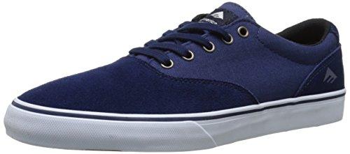 Emerica Provost Slim Vulc, Herren Skateboardschuhe Blau - Bleu (Navy White 472)