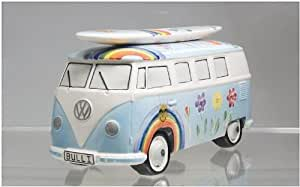 bulli spardose vw bus t1 surfboard hippie hellblau amazon. Black Bedroom Furniture Sets. Home Design Ideas