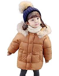 QinMM 1-5 años bebé Abajo Chaqueta con Capucha Caliente de Invierno de algodón Abrigo de niñas y niños