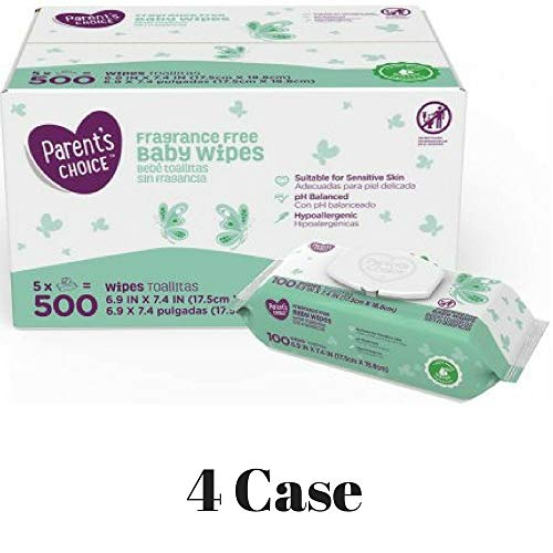 Unscented, 720 Count Babys Choice Hypo-Allergenic Sensitive Wipes