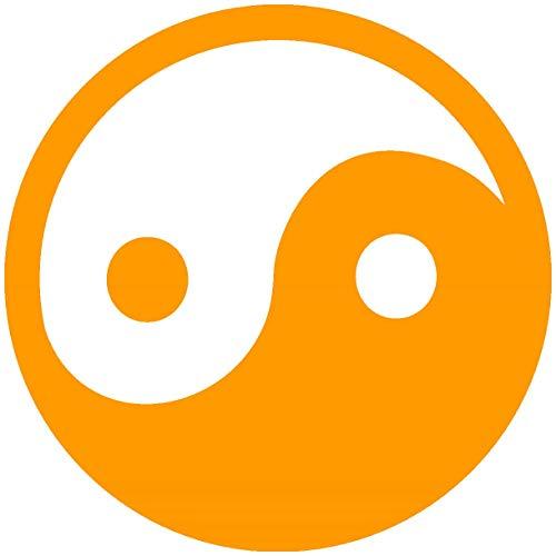 Samunshi® Wandtattoo Yin & Yang in 5 Größen und 19 Farben (40x40cm goldgelb)