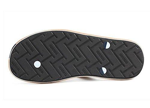 ALUK- Sandales d'été - Décontracté Antidérapant Hommes confortables Chaussons résistant à l'usure Chaussures de plage ( Couleur : Orange , taille : 41 ) Orange