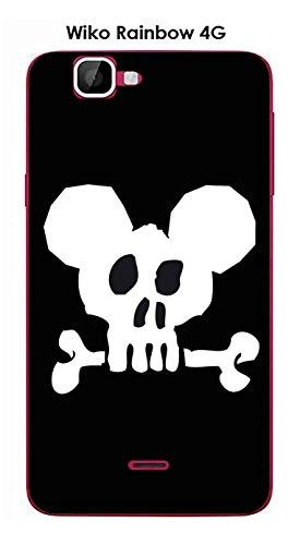 Coque Wiko Rainbow 4G design Mickey Skull