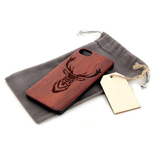 Arktis iPhone 8 / 7 Case, Arktis Holzhülle Holz Cover - Weltkarte Flamingos