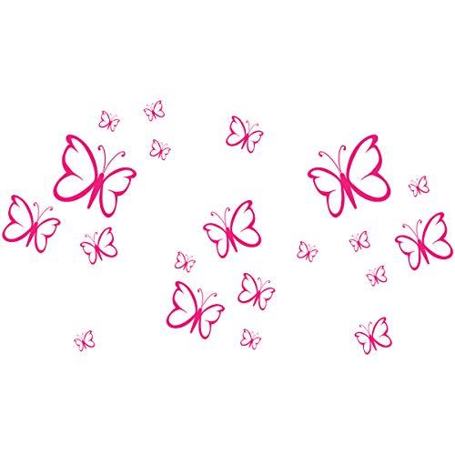 Wandkings Wandtattoo 'Schmetterlinge im Set, 20 Stück' in pink - erhältlich in 33 Farben