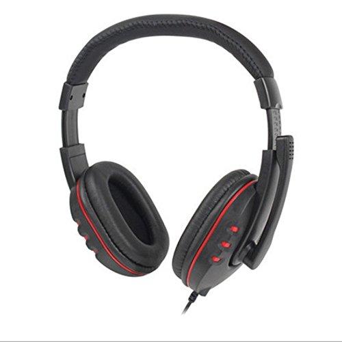 dreamyth Neue USB Wired Stereo-Mikrofon Gaming Kopfhörer für Sony PS3PS4PC Schwarz - Boom Headset Handy Mobile