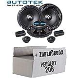 Peugeot 206 - Lautsprecher Boxen Autotek ATX-6.2C | 2-Wege 16cm Lautsprecher System 16,5cm Auto Einbauzubehör - Einbauset