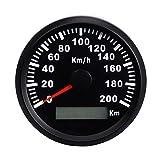 ZJP-Car Instruments Tachimetro Digitale GPS for Auto 200 km/h con retroilluminazione LED Rosso misuratore di velocità for Auto Barca IP67 Impermeabile Dispositivo sensore