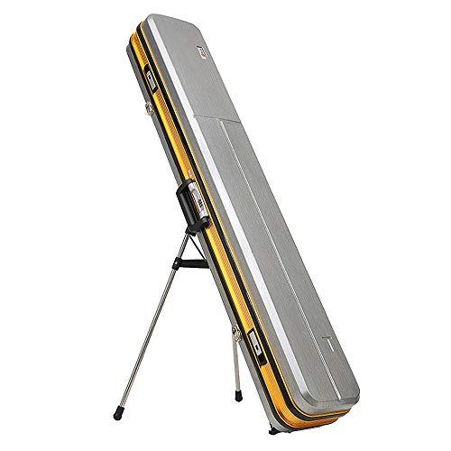 BQY Rutentasche, Angeltasche Rod Case Angelrutenträger Tragbare Leinwand Angelrute Fall Angelrute Reel Aufbewahrungstasche Fanggeräte Organizer 126 cm (Color : Silver)