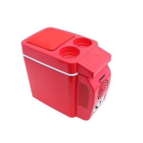 Lyy - 8866 Kühlschrank Kühl Gefrier Gefrierschrank Auto kühlschrank, tragbare Thermoelektrische Kfz-Wärme- & Kühl-Box, Getränkehalter, 7 L, 12 V, für Auto und Camping Autokühlschrank (Color : Red)