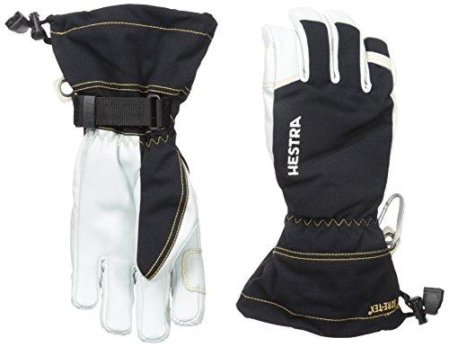 Hestra wasserdichte Skihandschuhe: Herren und Damen Armee-Leder Gore-Tex Cold Weather Handschuhe, Unisex, 31460, Schwarz, 10