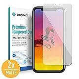 smartect Mattes Panzerglas für iPhone XR [2X MATT] - Bildschirmschutz mit 9H Härte - Blasenfreie Schutzfolie - Anti Fingerprint Panzerglasfolie