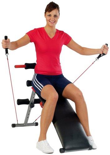 Christopeit 9841 BG2 Panca Fitness con Manubri, colore: Nero/Argento/Rosso