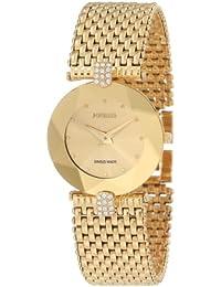 Jowissa Facet Strass J5.010.M - Reloj analógico de cuarzo para mujer, correa de acero inoxidable color dorado
