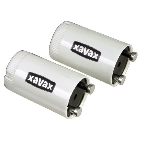 Xavax 2 Leuchtstofflampen-Starter für Leuchtstoffröhren mit 4-65 Watt in Einzelschaltung, ST 65 Single -