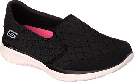 Skechers Equalizer Say Something, Scarpe da Ginnastica Donna Black/White