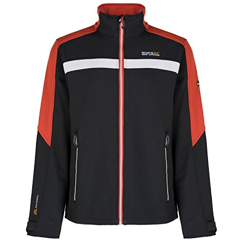 Regatta Mens Parkley Warm Lightweight Softshell Jacket Black