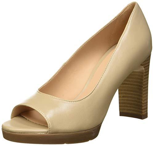 Geox D Annya High Sandal D, Scarpe col Tacco Punta Aperta Donna, (Beige C5000), 40 EU