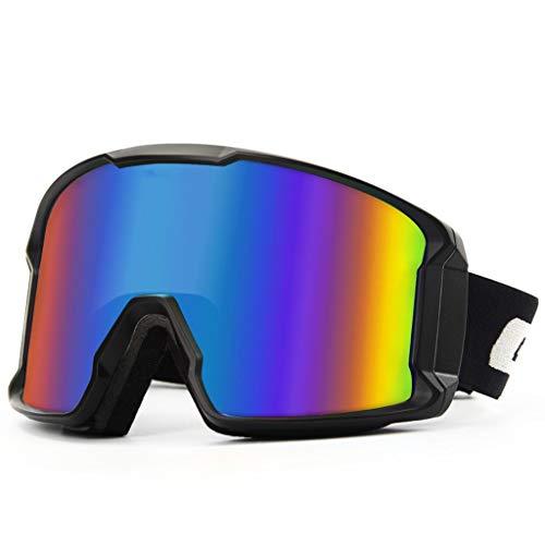 OLLVU Skibrillen for Unisex Sport-Sonnenbrille Anti-Fog-Dual-Layer-Objektiv Anti-UV kann Gläser for den Winter zum Snowboarden Winddicht setzen (Farbe : Lila)