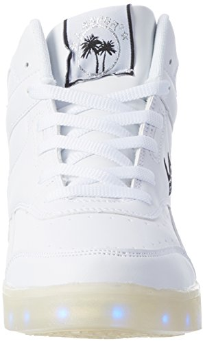 L.A. Gear Flo Lights Ii, Chaussons montants femme Weiß (white/blk)