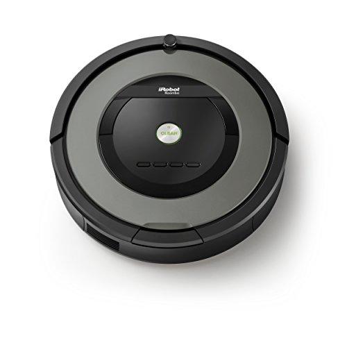IRobot Roomba 865 Saugroboter (hohe Reinigungsleistung, keine Verhedderungen und mit Dirt Detect, reinigt alle Hartböden und Teppiche, ideal bei Tierhaaren, Reinigung nach Zeitplan) grau