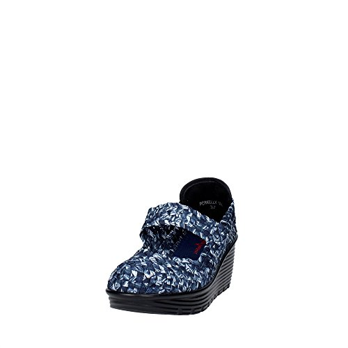 Pregunta PCAKELLY-006 Open Toe Chaussures Femme Bleu/Blanc