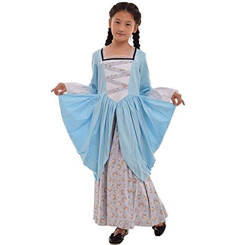 GRACEART Pionier Pilger Mädchen Kolonialen Kinder Kostüm (US-12, (Kostüm Bürgerkrieg Mädchen)