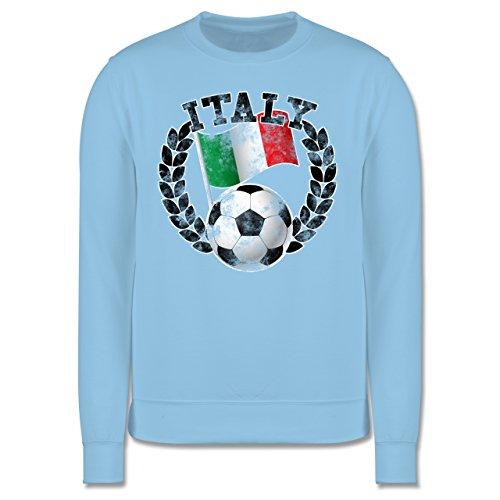 EM 2016 - Frankreich - Italy Flagge & Fußball Vintage - Herren Premium Pullover Hellblau