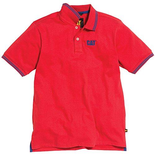 caterpillar-mens-horsepower-contrast-cotton-polo-shirt-red