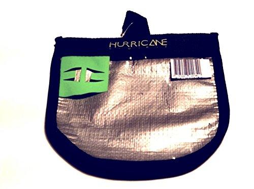 Hurricane Surf Wachs Tasche/Wax Bag (Silber mit Lime Schrift)