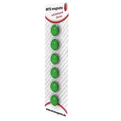 Magnetpins 20x9 mm für die Pinnwand - 6er Set, Farbe:grün 6 X 9 Magneten