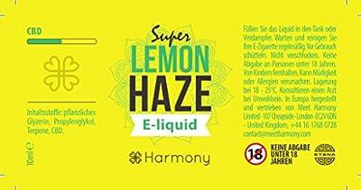 Harmony CBD Liquid mit 100mg CBD - 10ml - Super Lemon Haze Geschmack (nikotinfrei) von Meet Harmony