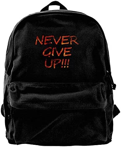 xinyanghongda xinyanghongda xinyanghongda Never Give Up,Funny Advanced Black Canvas Backpacks School Backpack for Boy B07KXP8H3C | Couleur Rapide  1cf39a