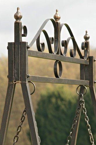 CLP 2 Sitzer / 3 Sitzer Garten Hollywoodschaukel AIMEE, Landhaus-Stil, Metall (Eisen) bronze - 4