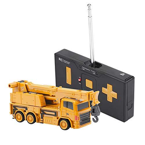 RC Auto kaufen Baufahrzeug Bild: Alomejor RC Bauwagen, Mini DIY Baufahrzeug RC Bagger Truck Bagger Kits Baustein Spielzeug(Kran)*