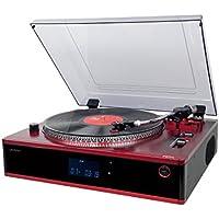 Lauson CL137 - Tocadiscos Profesional - Función pitch, CD/MP3, Giradiscos con Funcion Encoding, USB, Radio FM, Vinilos