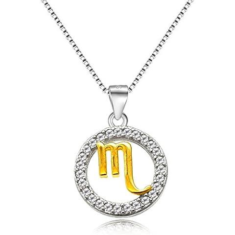 Timando Zodiaco Collane argento 925 impreziositi da zirconi crystal Segno