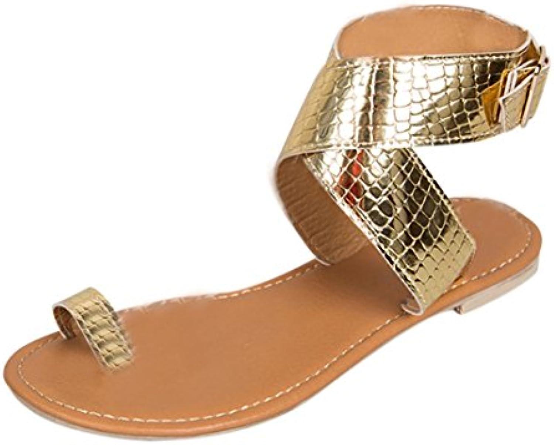 les femmes des sandales, ba zha & # 55357; 55357; 55357; & # croix 56417 ceinture; les femmes à gladiateur forfaitaire bas rom e t ongs sandales de plage chaussures tongs... ac1321
