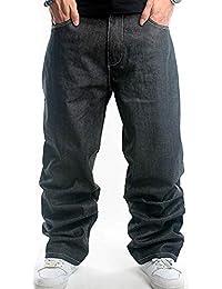 Pantaloni da Uomo Pantaloni di Jeans Moda Classica Casual Moderna Pantaloni  Larghi di Jeans Pantaloni da 1ffba1382162