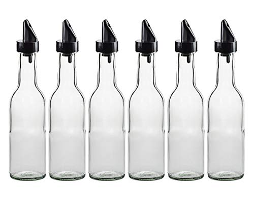 hocz  - Set di Bottiglie di Vetro 4/8/12 Pezzi, capacità 250 ml, Colore Coperchio: Oro, versatore PP28 per Bottiglie di Succo, liquori, Uova, Vino e Olio, 8 Pezzi