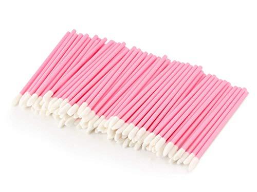 Anitra Perkins - Einweg-Lippe Lippenpinsel 200pcs Bürsten Lippenstift Gloss Zauberstäbe Applikator Make-up Tool-Kits (Pink)