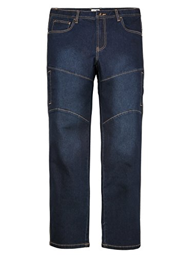 Herren Jeans Baumwoll-Mischung mit modischen Teilungsnähten Elastisch/Stretchanteil by John F. Gee Dark Blue